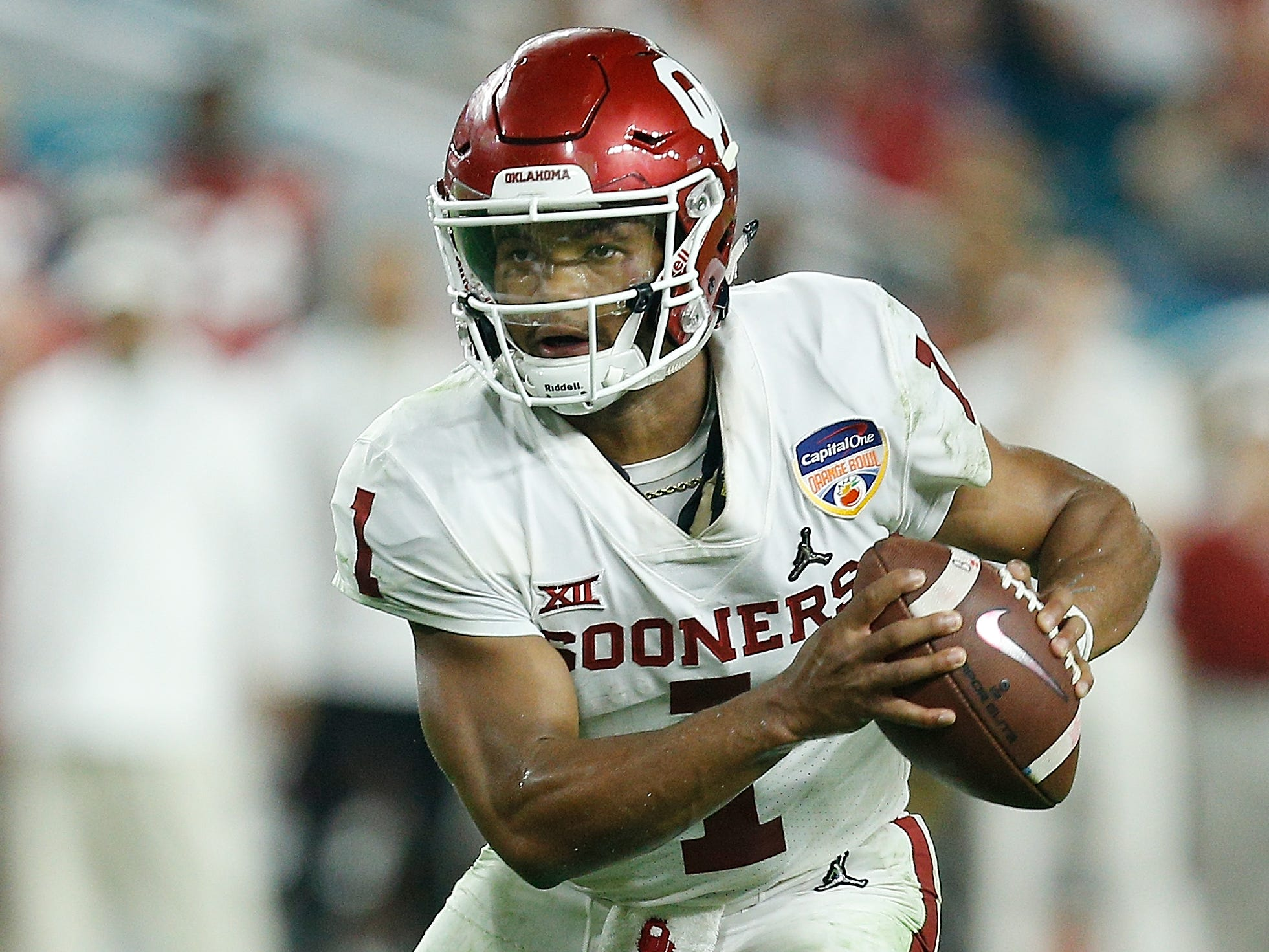 7. Jacksonville Jaguars — Kyler Murray, QB, Oklahoma: We can readily admit Murray will be off the board for several teams because of his split commitment with baseball, and his height is going to bother more potential suitors, but the lure of college football's most exciting player could be a siren song for the Jaguars, who went from Super Bowl contender to the Dumpster counting on Blake Bortles to be the guy.
