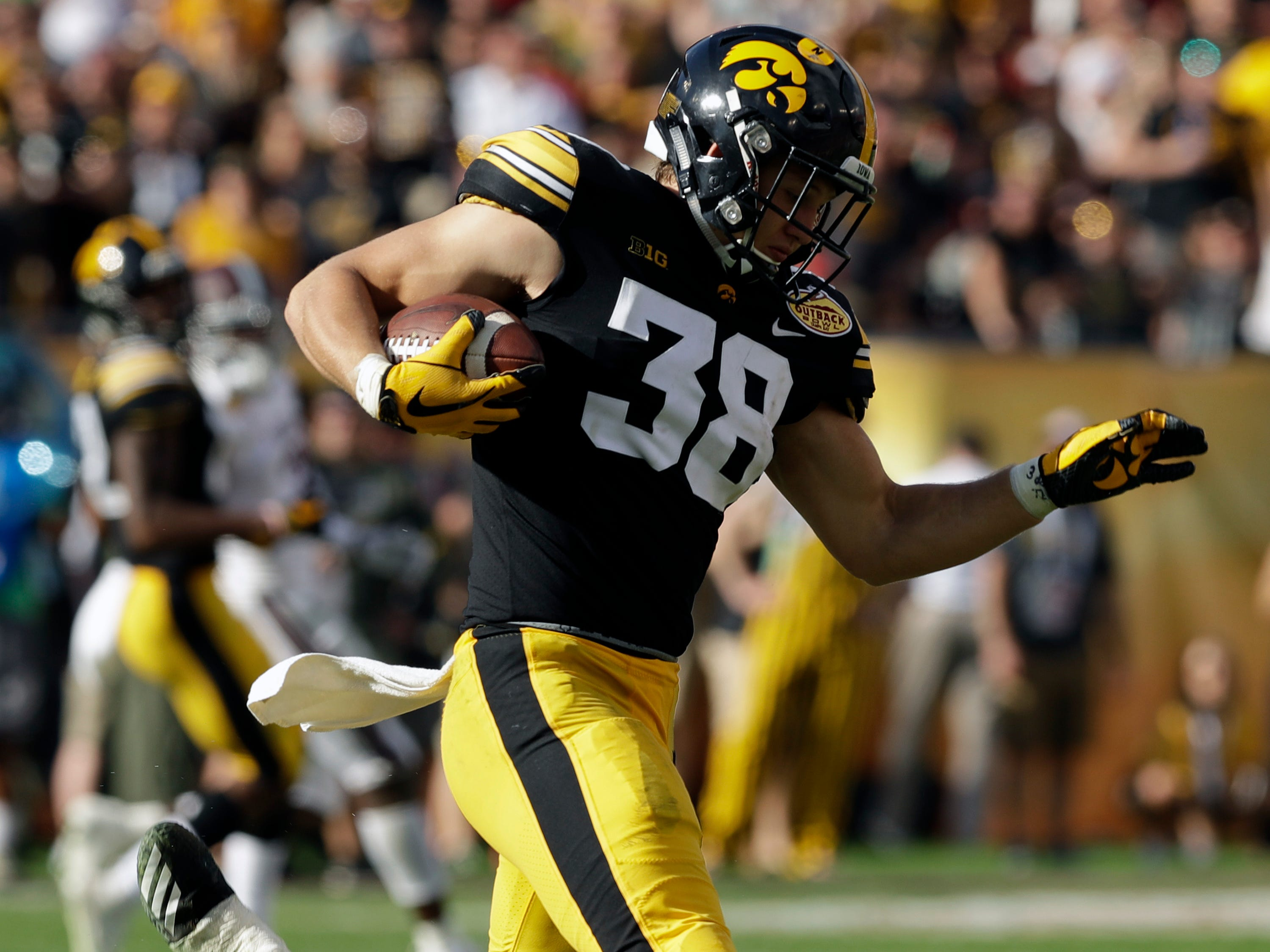 30. Green Bay Packers — T.J. Hockenson, TE, Iowa: The Packers have struggled to get quality production from the tight end spot for years, but with a new scheme coming to Green Bay this year, the talented Hockenson should add another dimension to the team's offense.