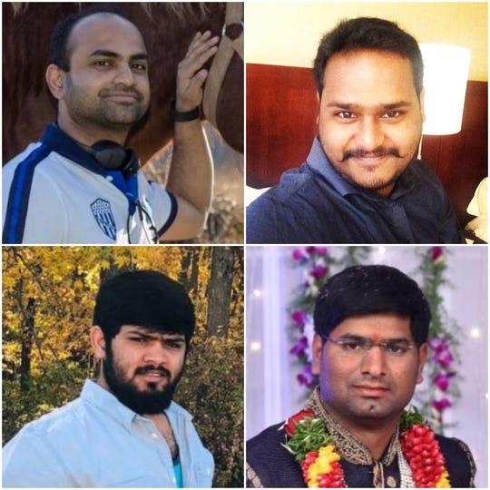 Clockwise from left: Phanideep Karnati, Naveen Prathipati, Santosh Reddy Sama and Prem Kumar Rampeesa.