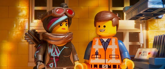 "Elizabeth Banks and Chris Pratt voice characters in ""The Lego Movie 2: The Second Part."""
