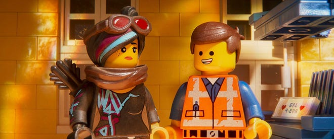 """Elizabeth Banks and Chris Pratt voice characters in """"The Lego Movie 2: The Second Part."""""""