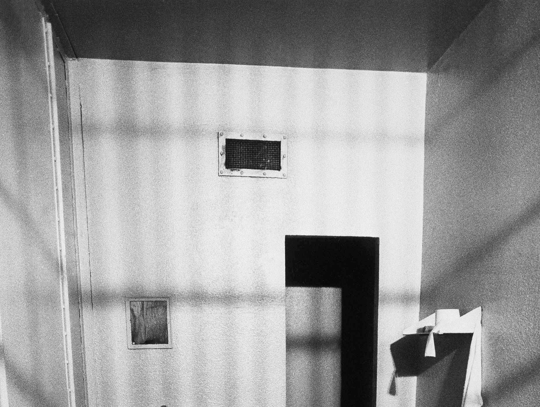 This is the isolation cell in Dade County Jail where accused murderer Theodore Bundy is being held in Miami, shown, June 26, 1979, during his relocated murder trial.