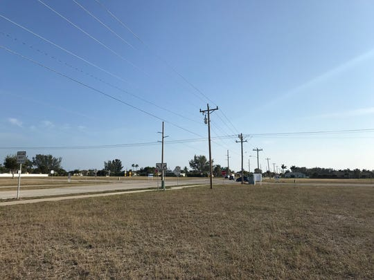 The properties known as Four Corners at Beach Parkway and Agualinda Boulevard are currently vacant.