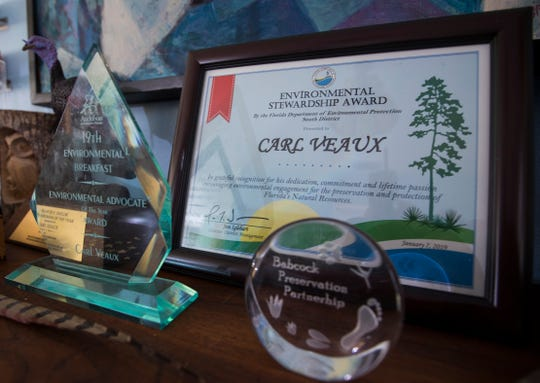 Cape Coral resident Carl Veaux has earned several awards, including the Environmental Stewardship Award by the Florida Department of Environmental Protection.