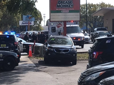 The Fort Myers Police Department is investigating a possible drive-by shooting at LA Great Auto Sales in Fort Myers.