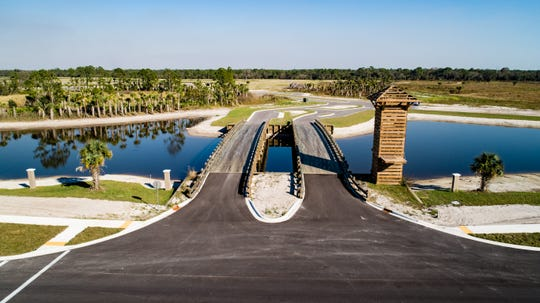 A drone's-eye-view of Brightwater in North Fort Myers