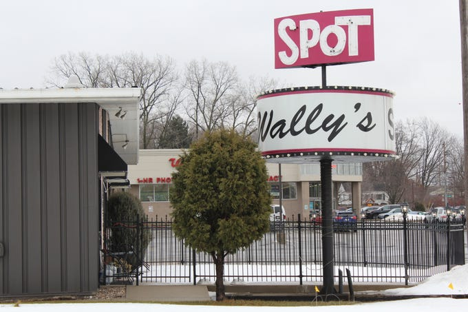 The sign for Wally's Spot supper club, 1979 Main St., Green Bay
