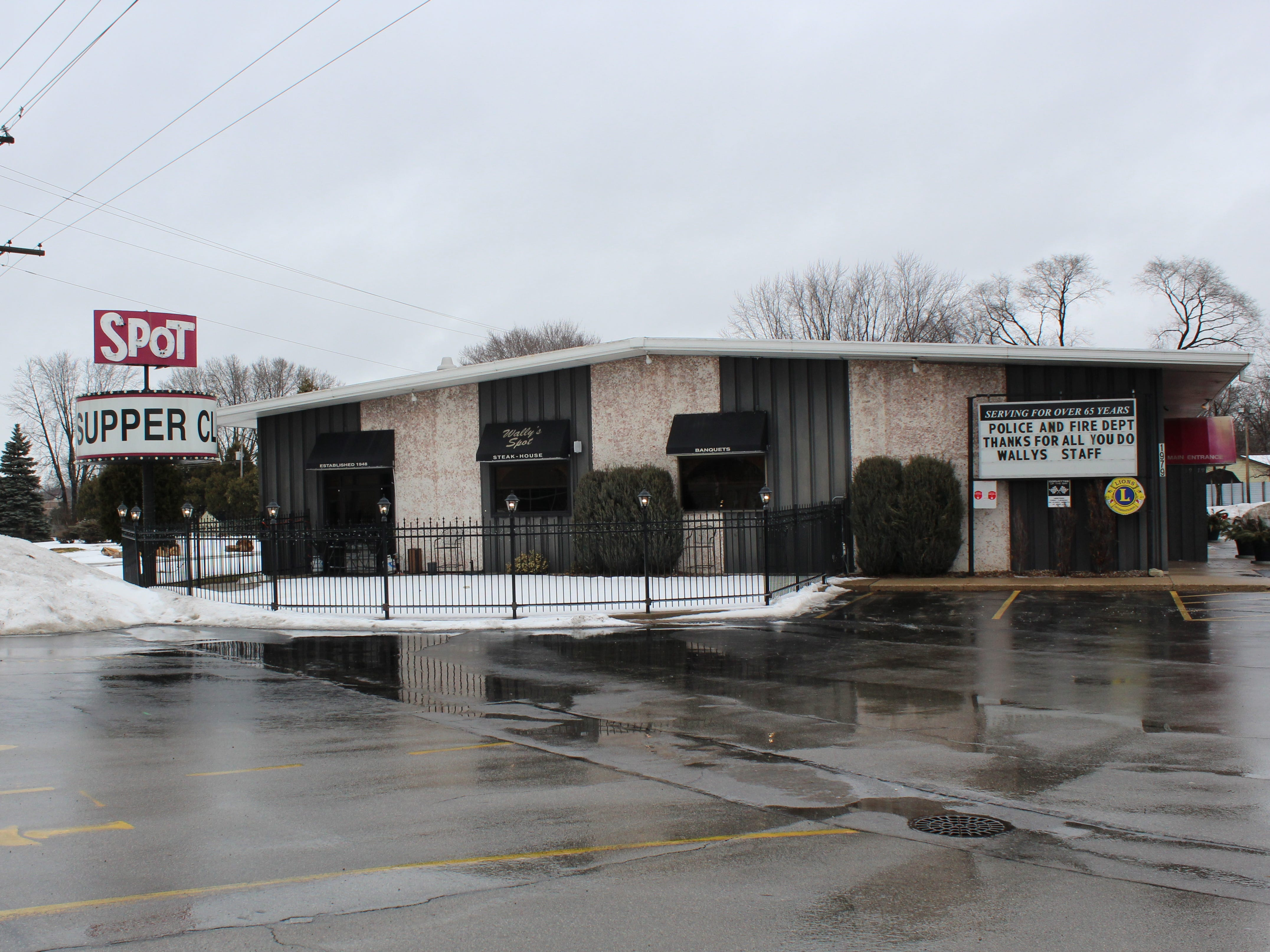 Wally's Spot Supper Club, 1979 Main St., Green Bay, is known for its food and easily identifiable by its iconic sign.