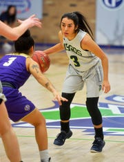 Sophomore guard Emilee Maldonado is the leading scorer for the University of Providence women.