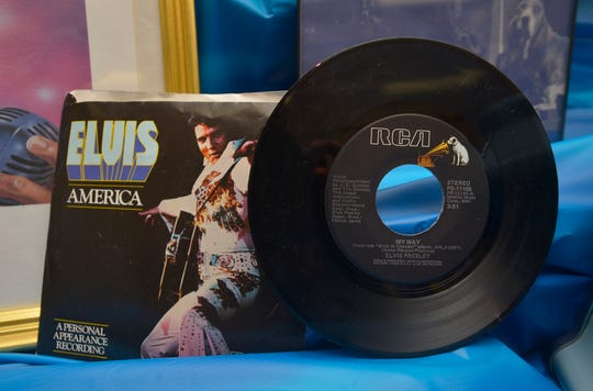 "An Elvis Presley 7"" vinyl record belonging to Terra Pankratz who was an avid Elvis fan and memorabilia collector during her life."