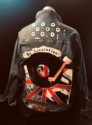 "Under the heading of ""wearable art,"" this jacket matches the ""British Invasion"" theme."