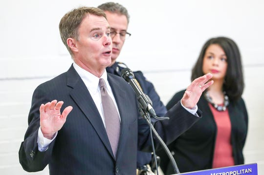 "During a press conference on Monday, at the Edna Martin Christian Center addressing a new body worn camera program, Indianapolis Mayor Joe Hogsett notes that the community will take part in the assessment. ""In this way, we can build the trust, the transparency and the tools to implement a quality body camera program."