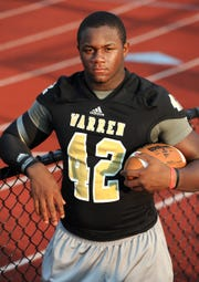 Top college football prospect linebacker Tim Kimbrough of Warren Central.
