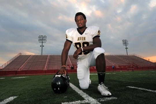 Top college football prospect defensive end Elijah Daniel of Avon.