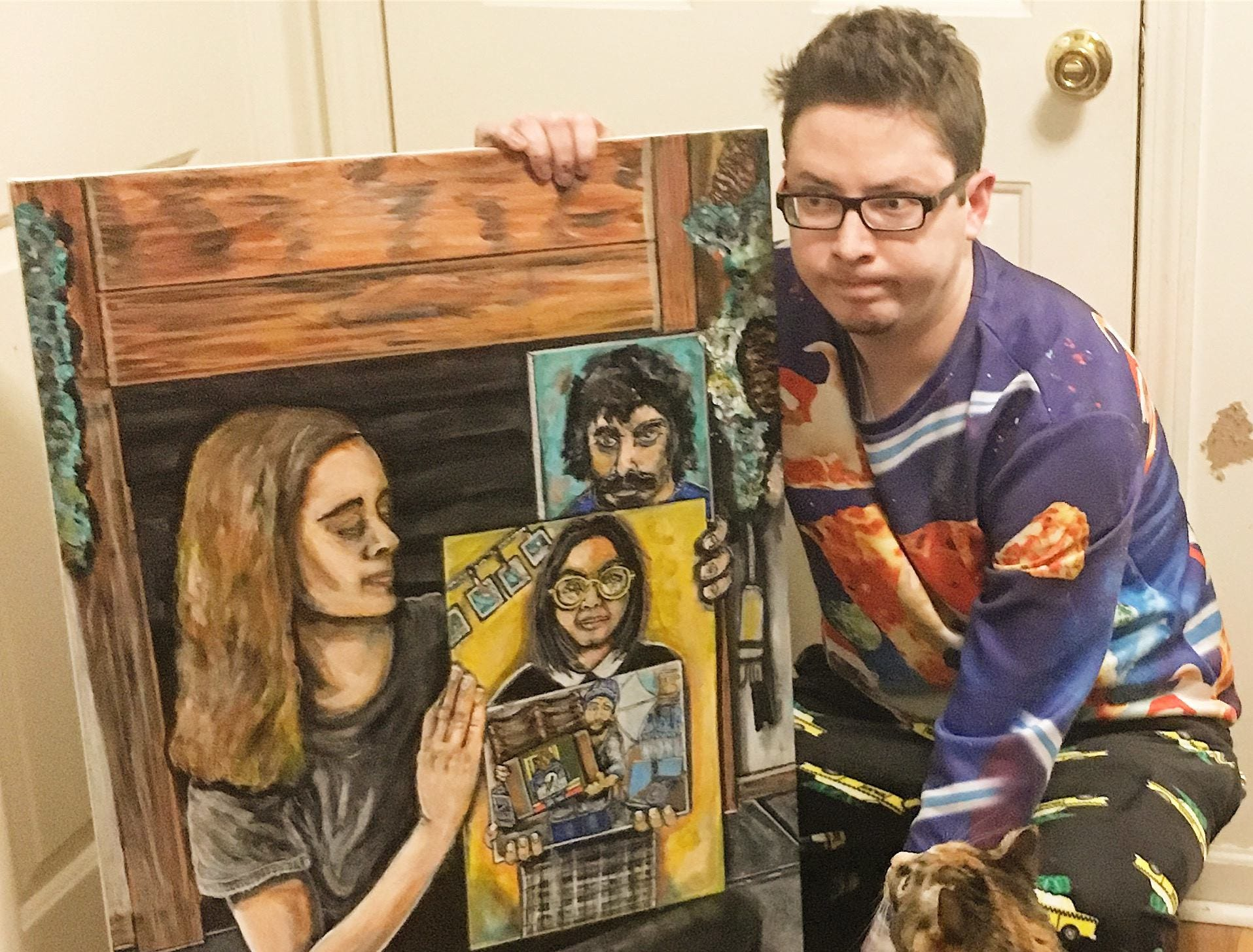How an Indiana artist (and his cat) played a big part in viral painting-in-a-painting meme