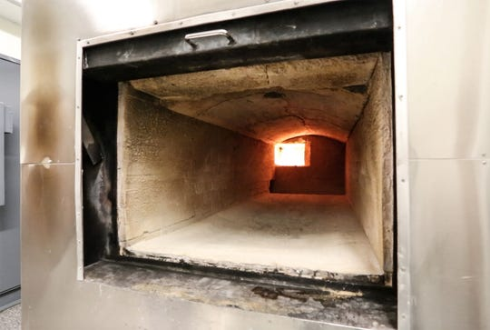 The inside a cremation oven is shown in this file photo.