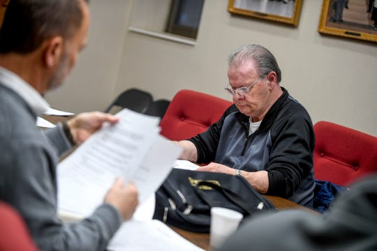 David Cisco (District 9) looks over agenda notes during a city council meeting at Jackson City Hall in Jackson, Tenn., on Thursday, Jan. 31, 2019.