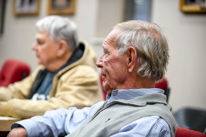 Mayor Gist listens to members address the agenda during a city council meeting at Jackson City Hall in Jackson, Tenn., on Thursday, Jan. 31, 2019.