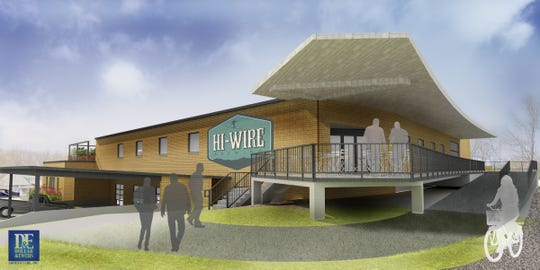 A rendering of the Sevier Avenue Retail development planned in South Knoxville. Hi-Wire Brewing of Asheville will be the first tenant and will take up the 10,000-square-foot space upstairs.