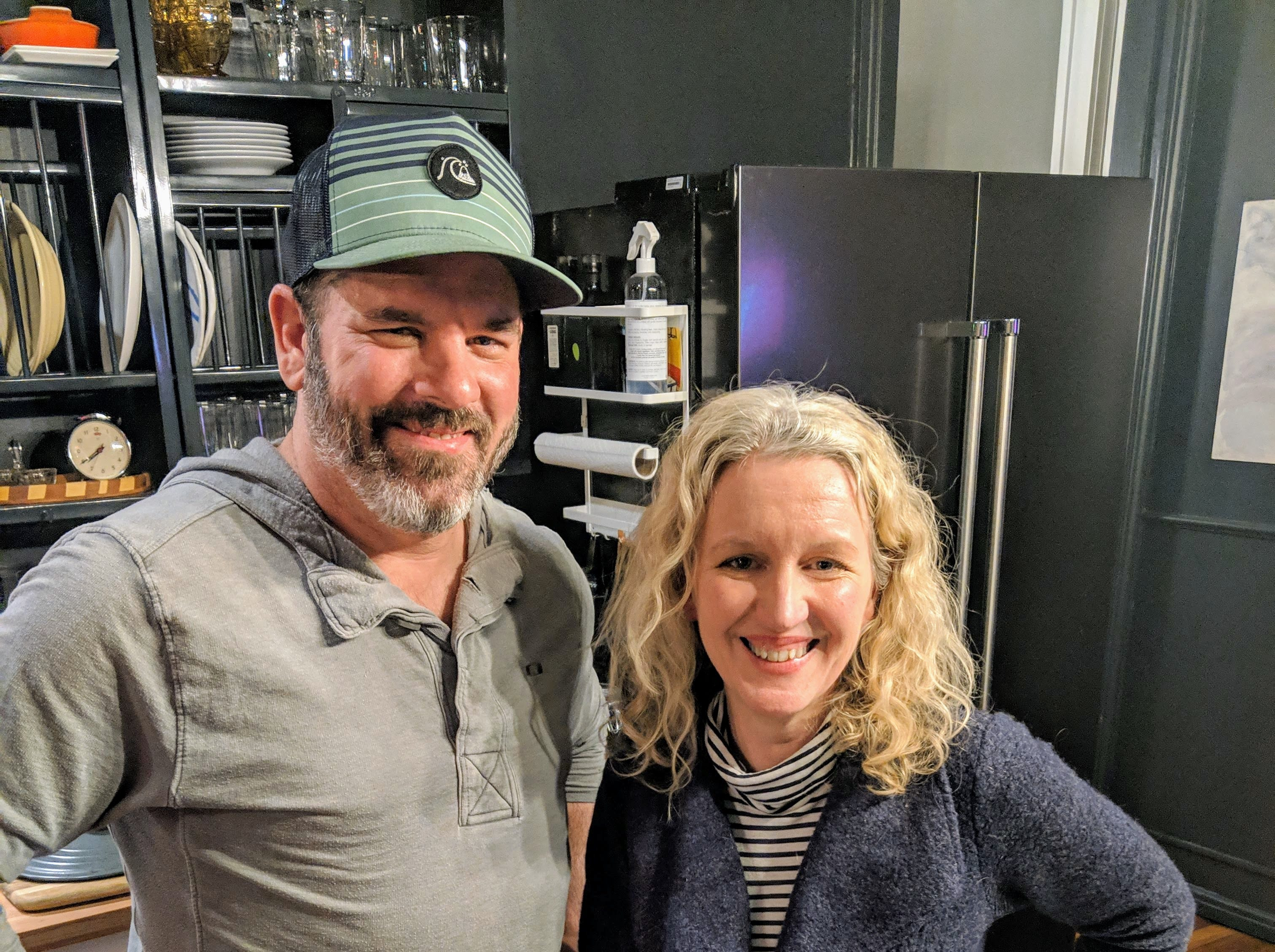 Louisville chef Michael Crouch and food writer Dana McMahan.