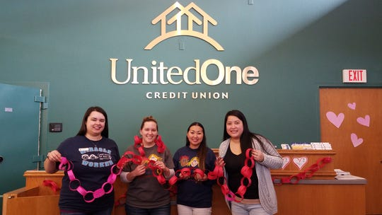UnitedOne Credit Union is partnering with Children's Miracle Network for its annual Chain of Hearts event in February to raise funds for Children's Hospital of Wisconsin.