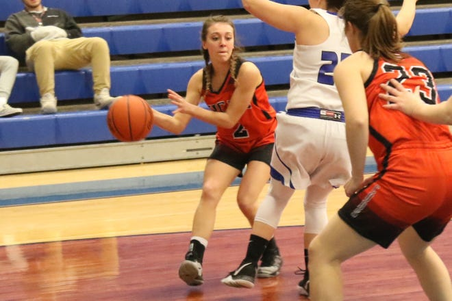 Lucas' Kayla Hignite was named the Mansfield News Journal Female Athlete of the Week.