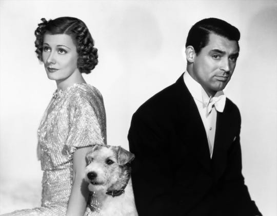 "Their marriage is going to the dogs: Irene Dunne, Asta and Cary Grant star in ""The Awful Truth,"" which screens at 7 p.m. Feb. 13 at the Studio on the Square."