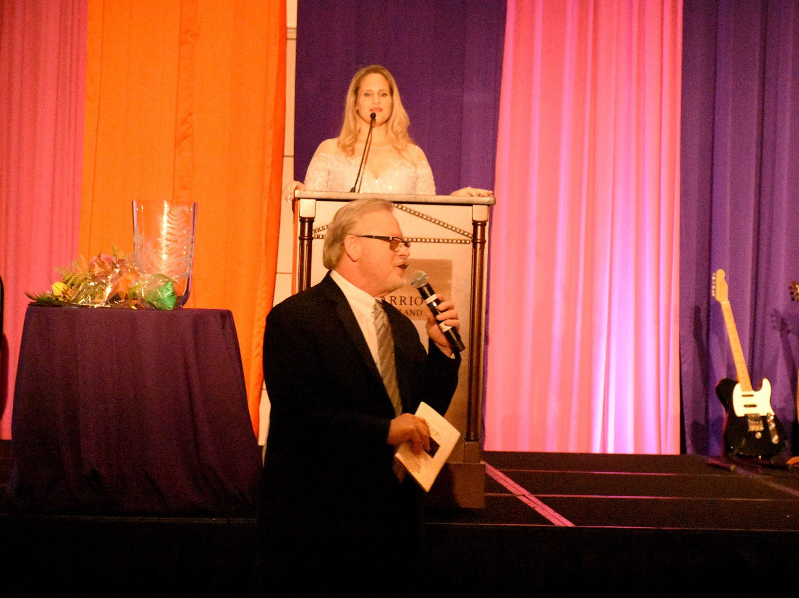Auctioneer Rick Gallo conducts the live auction. The Marco Island unit of the American Cancer Society held the Imagination Ball Friday evening at the JW Marriott hotel, raising funds to continue the fight against cancer.