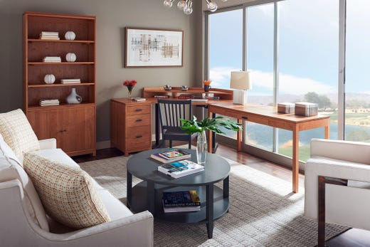 In A Small E Attractive Home Office Pieces Can Be Incorporated Into Living