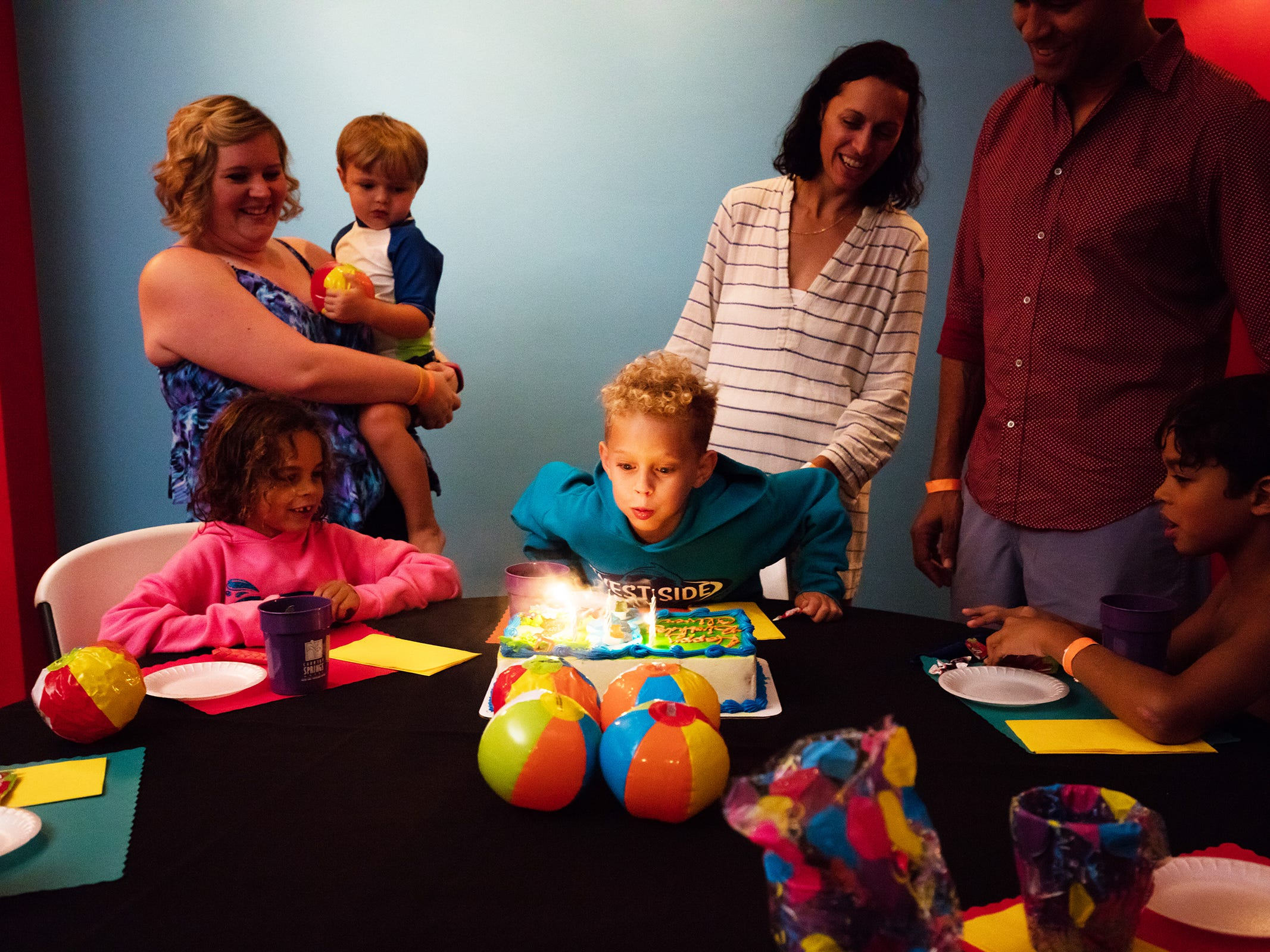 Ingleside Hotel has dedicated party rooms for their water park birthday party packages.