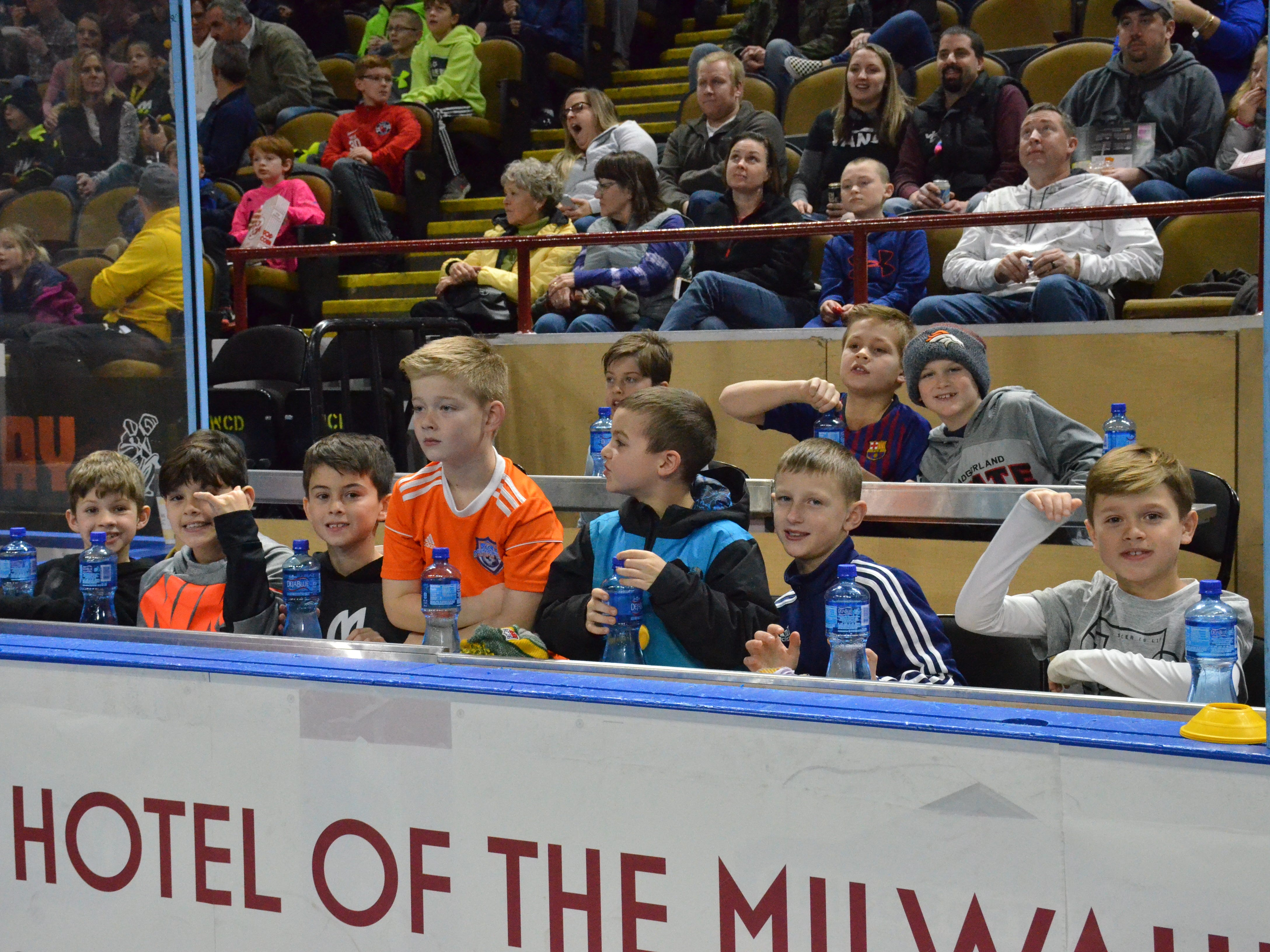 Birthday party guests get to enjoy Milwaukee Wave games from a special suite.