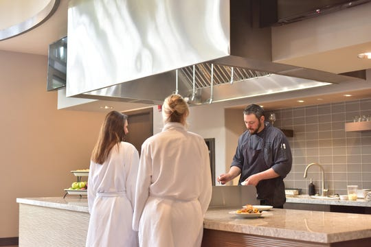 The culinary team at Sundara regularly hosts cooking demonstrations in the new demonstration space adjacent to the new restaurant with an emphasis on seasonally fresh recipes.