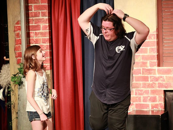 Birthday kids can participate in the action during a ComedySportz show.