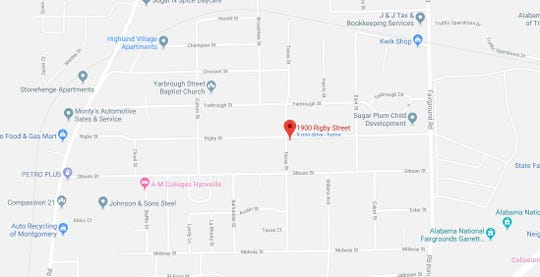 A man was shot in the 1900 block of Rigby Street about 7:15 p.m.