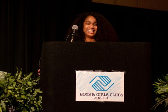 Jayonna Taylor received the 2019 Boys & Girls Clubs of Muncie Youth of the Year award.
