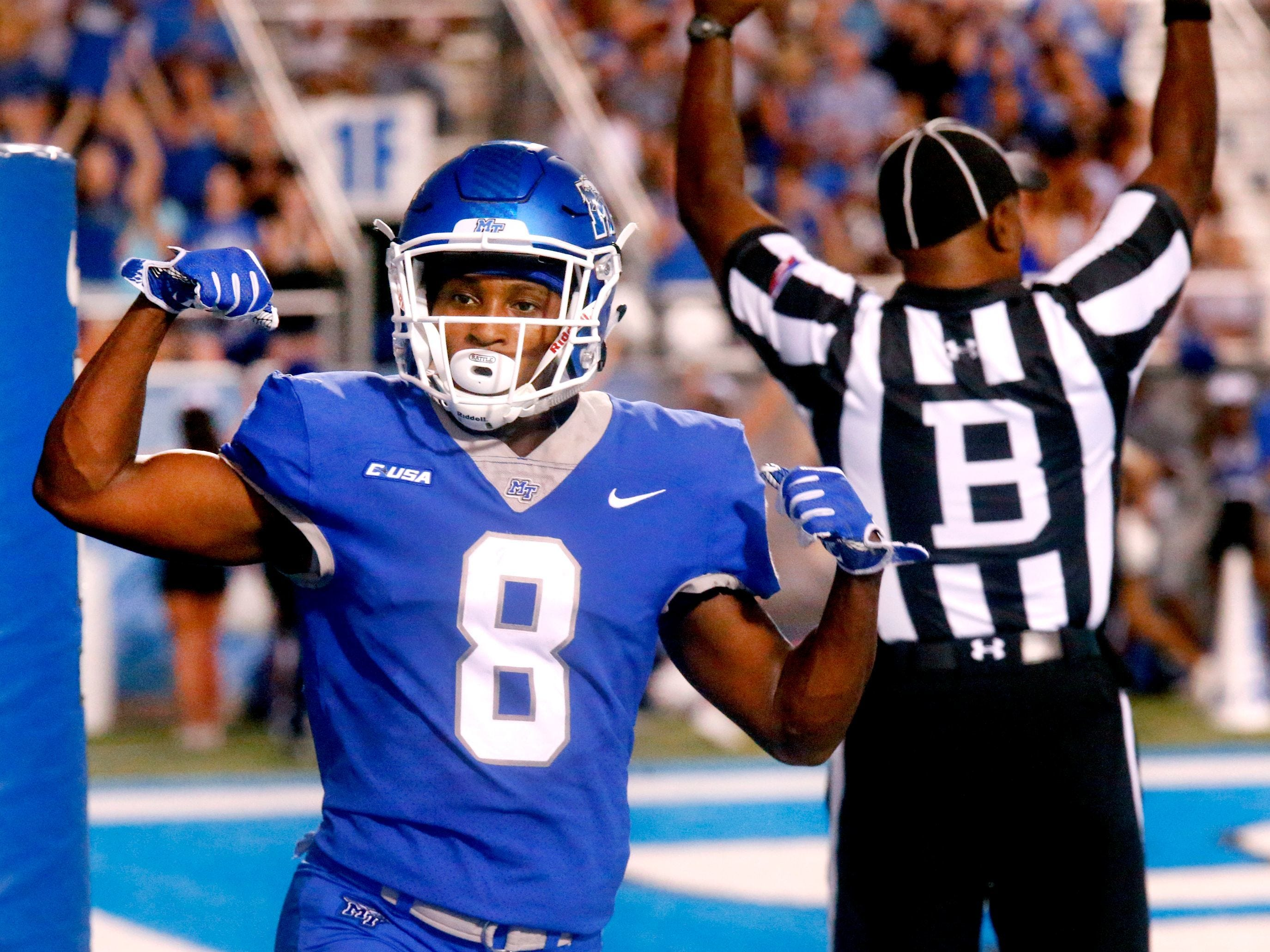 After a breakout sophomore year, wide receiver Ty Lee will figure to be a key part of MTSU's offensive plans in 2018.