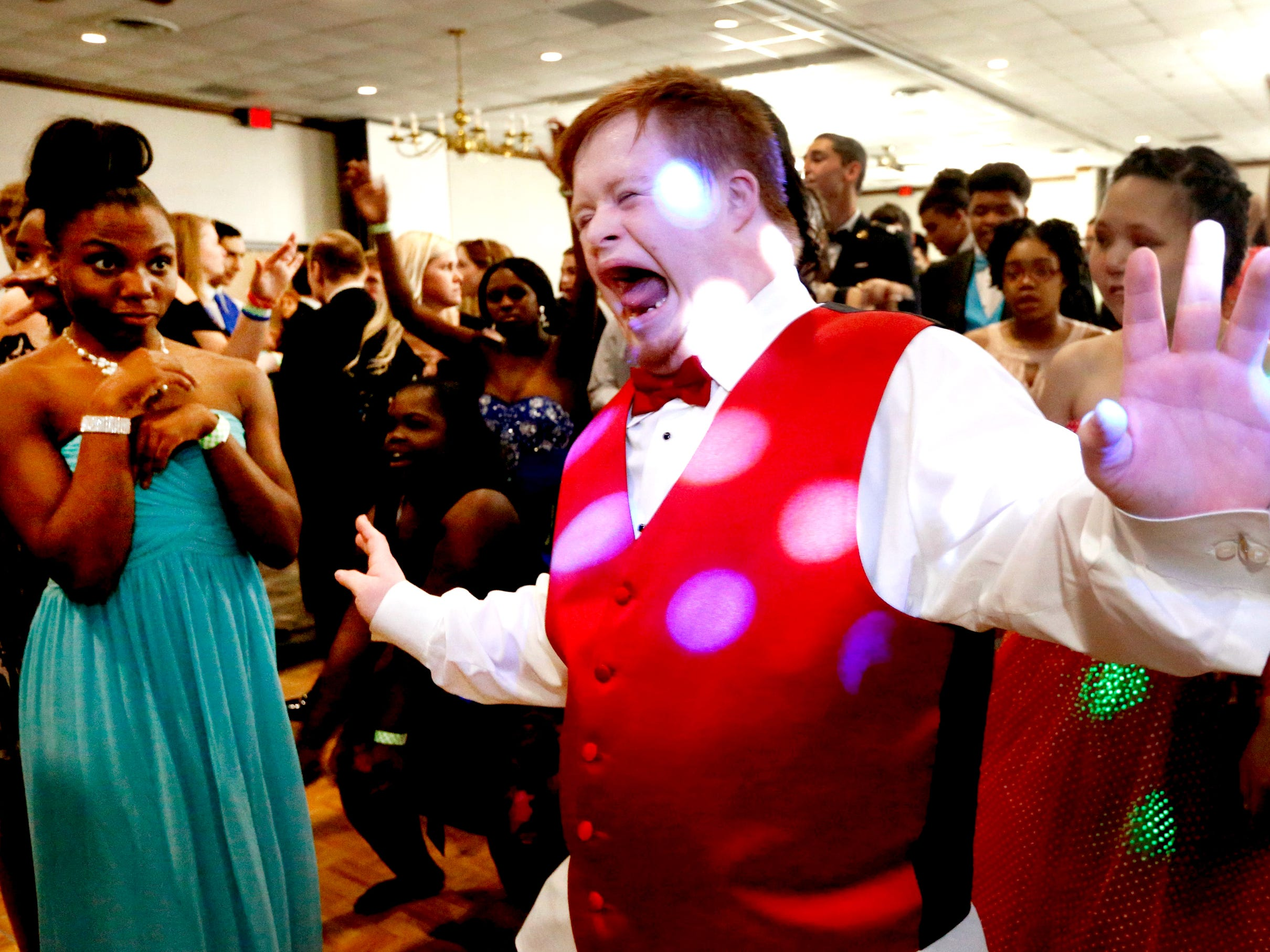Blackman's Harley Anderson dances to Michael Jackson's Thriller at this year's Special Needs Junior and Senior Prom for Rutherford County schools that was held on Wednesday March 21, 2018, at the Smyrna Town Center.