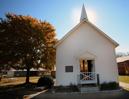The Williamson Chapel features ornate stained glass and old wooden pews that will make you feel like you've stepped back in time at historic Cannonsburgh Village, 312 S. Front St. in Murfreesboro.
