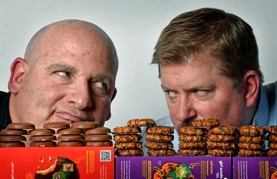 Schmitt vs. Rexrode  -- Tagalongs vs. Samoas -- It's a Girl Scout cookie fight!