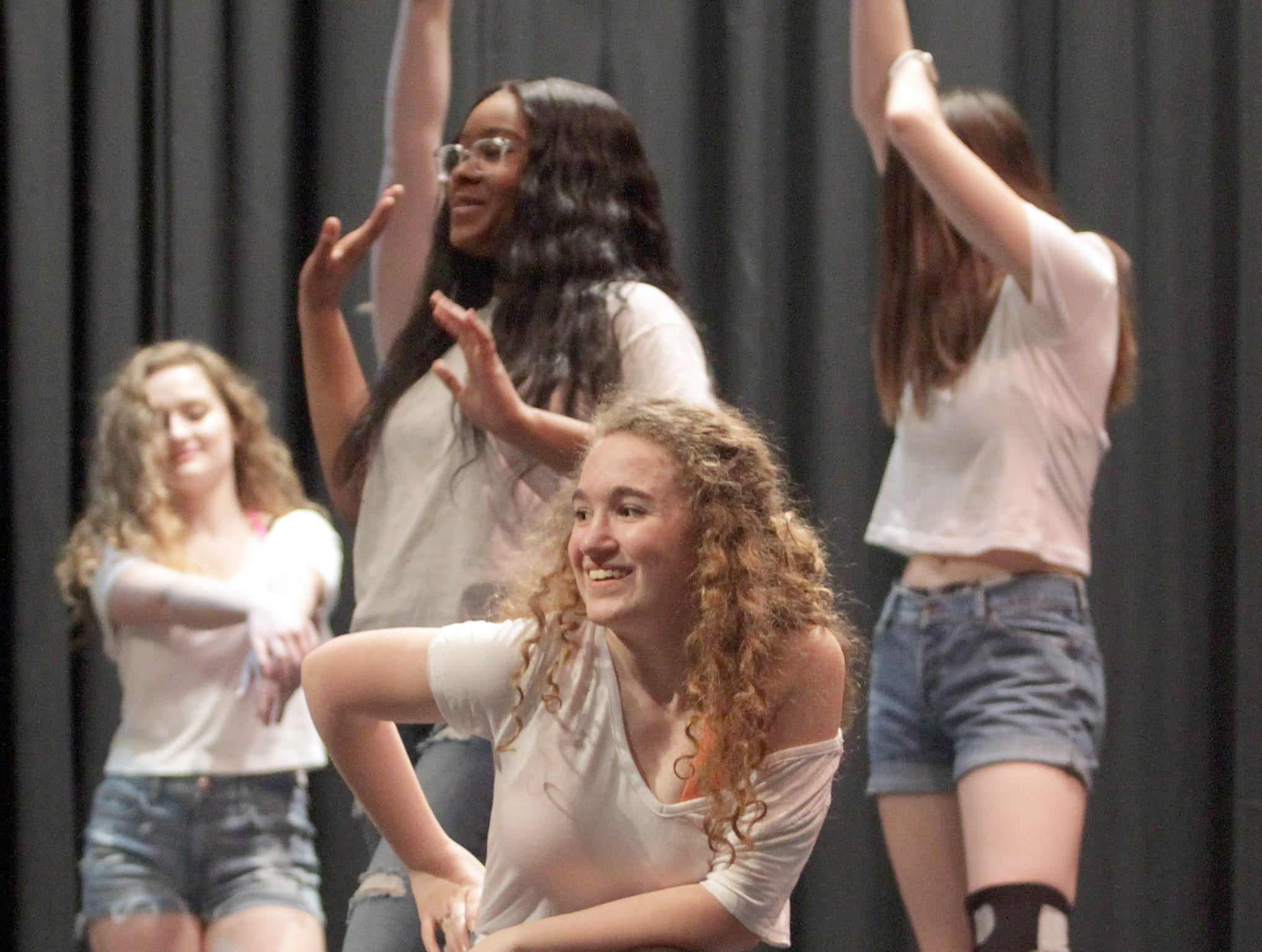 Kelly Hiam (center) of Social Graces dance performs at the Gallatin High's Annual Prom Show on Saturday, February 2, 2019.