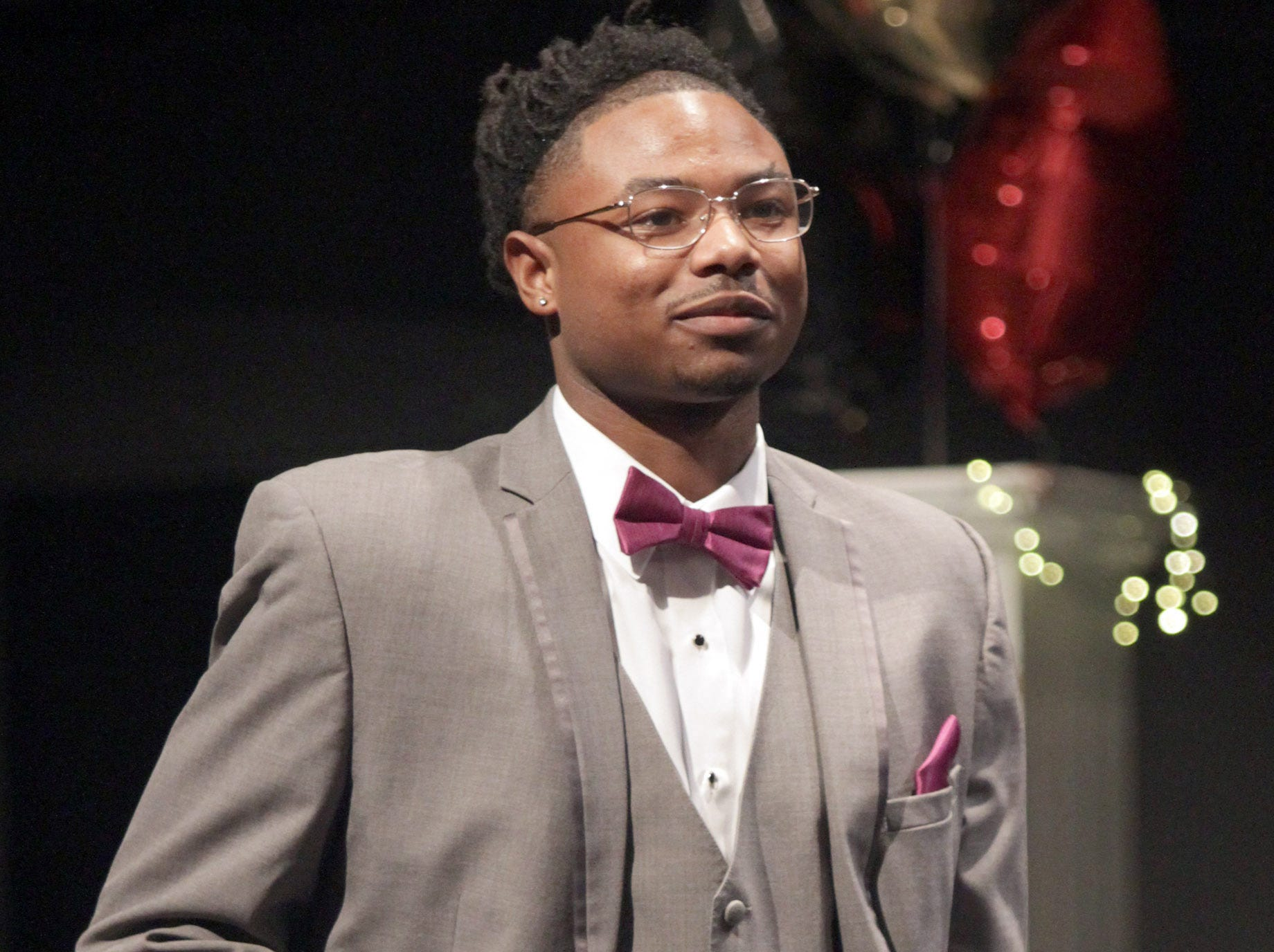 Antowan White walks the stage at Gallatin High's Annual Prom Show on Saturday, February 2, 2019.