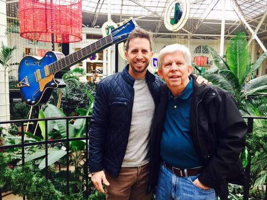David W. Adams, left, and his father, Wayne, during a recent visit to Gaylord Opryland Resort