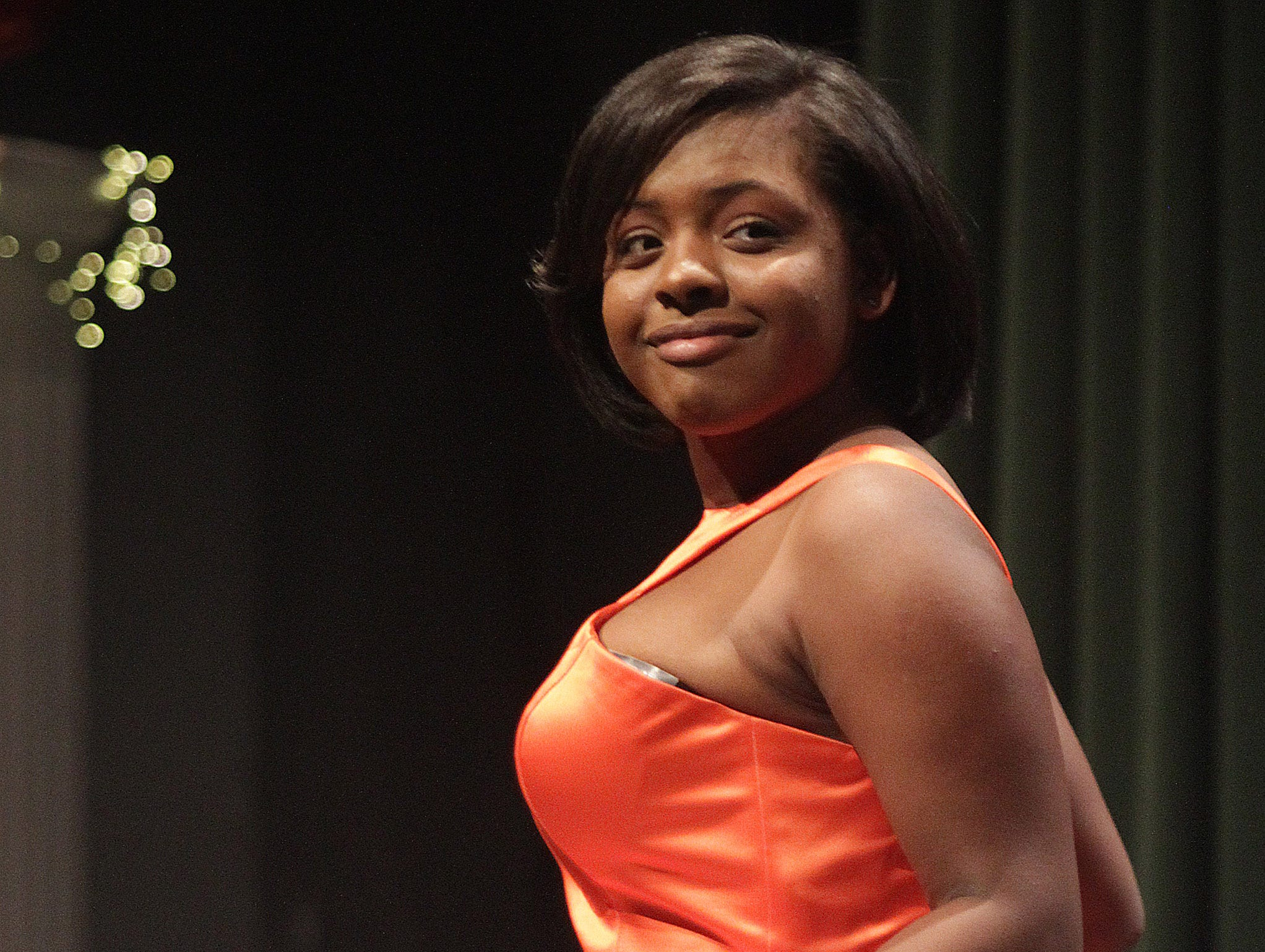 Aniya Patton hits the stage at Gallatin High's Annual Prom Show on Saturday, February 2, 2019.