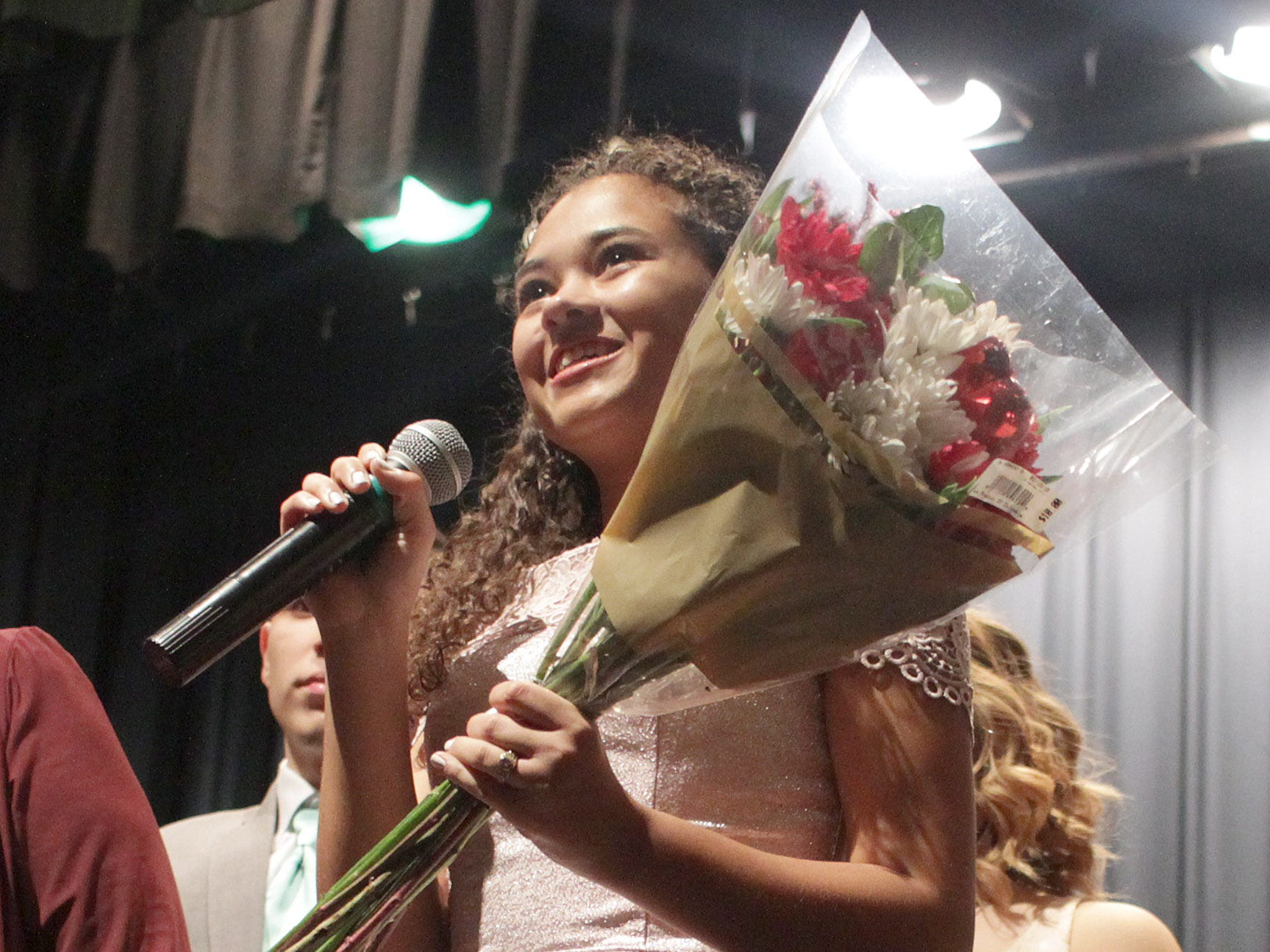 Gallatin High Senior Rachel Broadrick thanks all for their help putting on their annual Prom Show on Saturday, February 2, 2019.