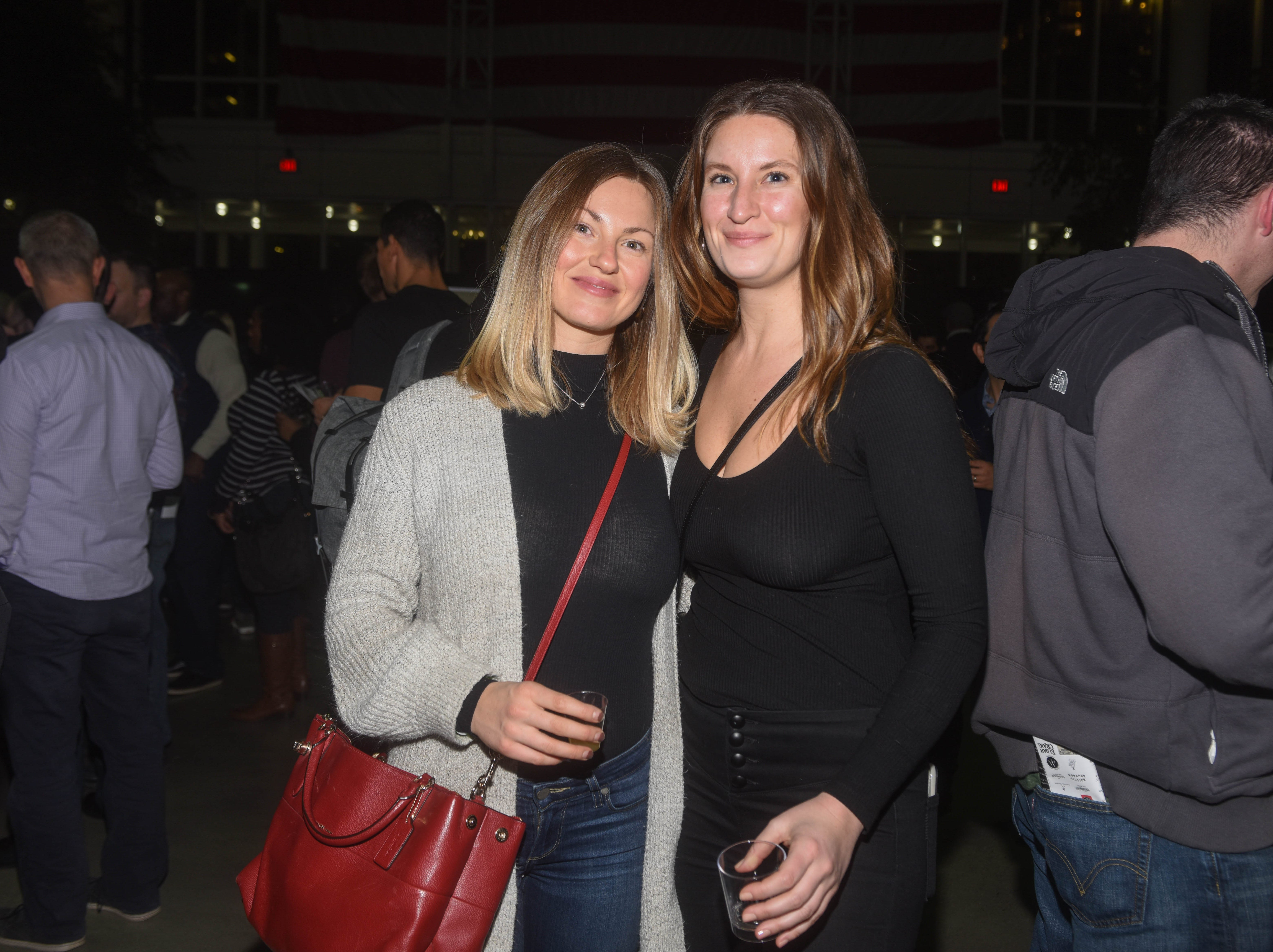 Beth Tomlinson and Rachel Huffine. Jersey City Whiskey Fest was held at Harborside Atrium. The event featured over 100 styles of whiskey and spirits. 02/01/2019