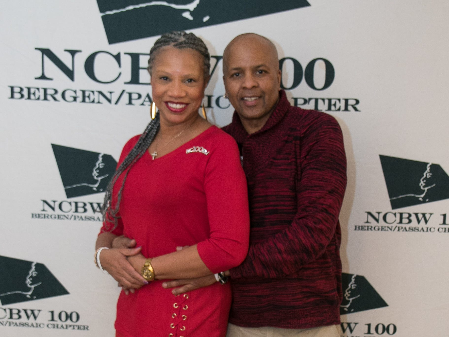 Yvonne Witter, Jeffrey Slater. The National Coalition of Black Women of Bergen and Passaic Counties held its annual Heart Healthy Go Red Event at The Hackensack Performing Arts Theater. 02/01/2019