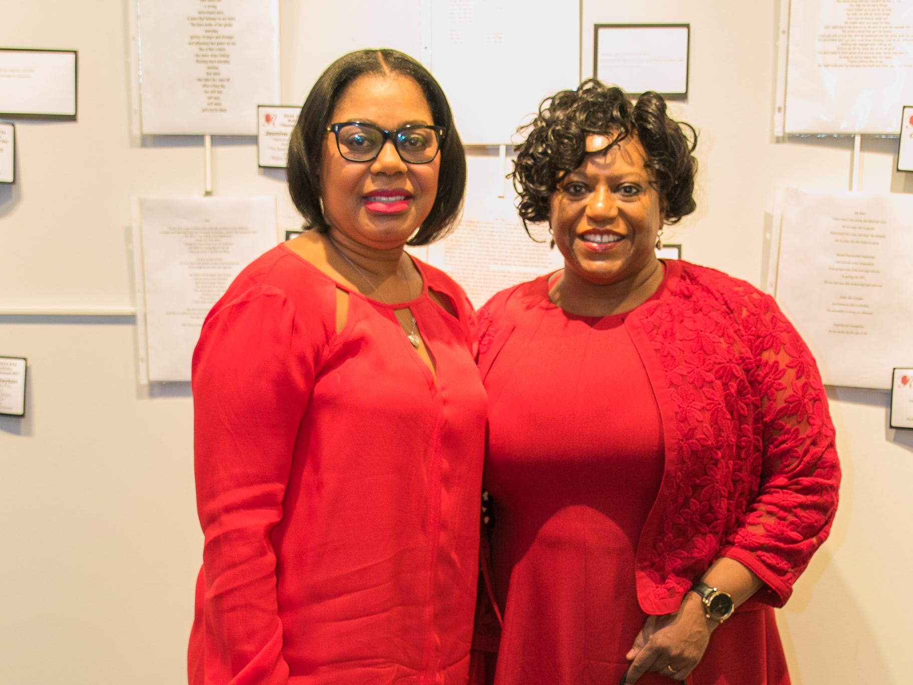 Dr. Marian Van Dyke-Acquah, Dr. Menen Mathias. The National Coalition of Black Women of Bergen and Passaic Counties held its annual Heart Healthy Go Red Event at The Hackensack Performing Arts Theater. 02/01/2019