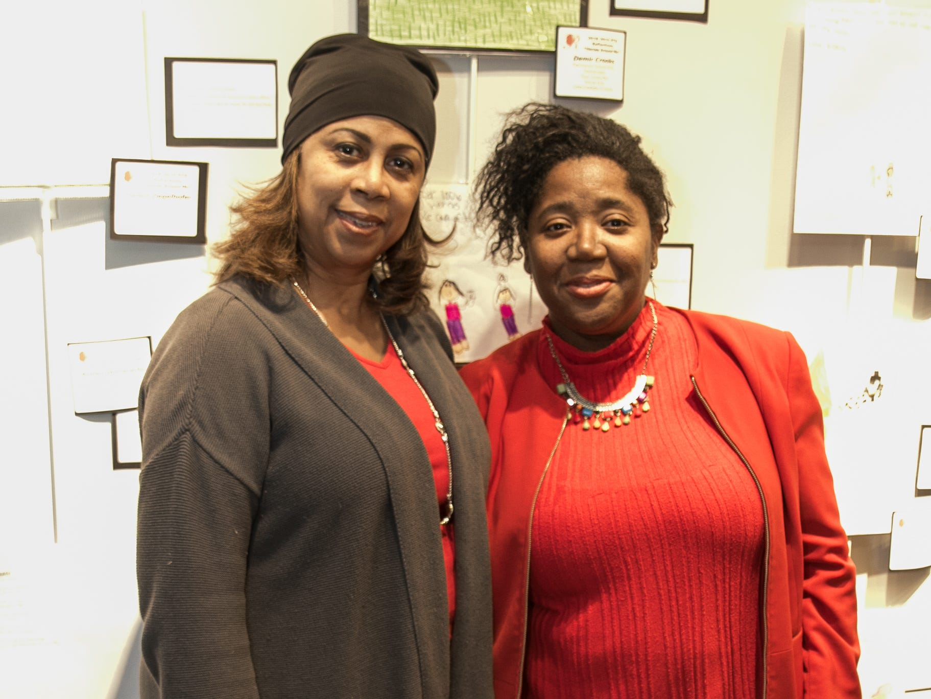 Lori Coleman, Beatrice Reynolds. The National Coalition of Black Women of Bergen and Passaic Counties held its annual Heart Healthy Go Red Event at The Hackensack Performing Arts Theater. 02/01/2019