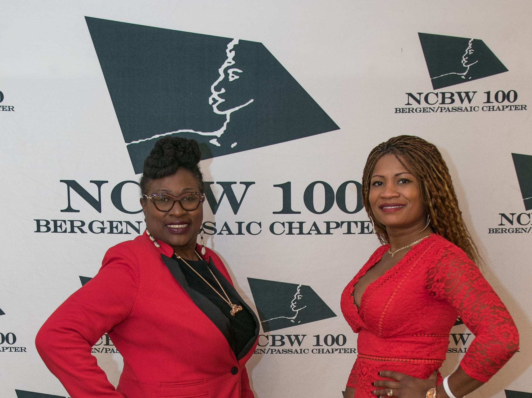 Hilda Dozier, Dominique Buisson. The National Coalition of Black Women of Bergen and Passaic Counties held its annual Heart Healthy Go Red Event at The Hackensack Performing Arts Theater. 02/01/2019