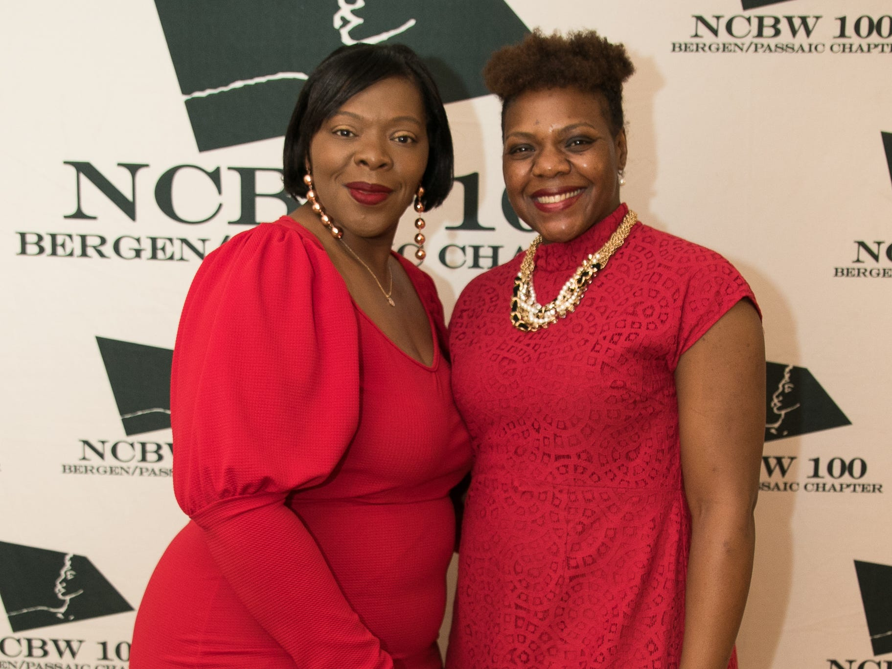 Natasha Davis, Trinette Carruthers. The National Coalition of Black Women of Bergen and Passaic Counties held its annual Heart Healthy Go Red Event at The Hackensack Performing Arts Theater. 02/01/2019